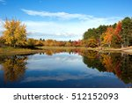 vibrant autumn leaves and... | Shutterstock . vector #512152093