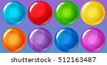 bubbles for match 3 games | Shutterstock .eps vector #512163487