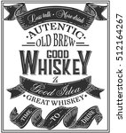 whiskey poster of alcohol with... | Shutterstock .eps vector #512164267