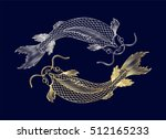 hand drawn of fish isolated... | Shutterstock .eps vector #512165233