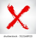 grunge letter x.hand drawn x... | Shutterstock .eps vector #512168923