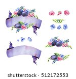 colorful floral collection with ... | Shutterstock . vector #512172553