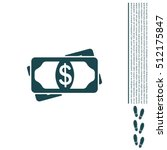 flat icon of money vector icon | Shutterstock .eps vector #512175847