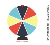 wheel of fortune  lucky icon. ... | Shutterstock . vector #512189017