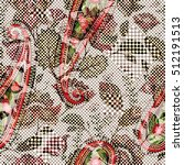 vintage flowers seamless... | Shutterstock .eps vector #512191513