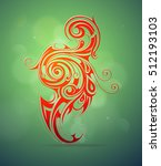 ornamental swirls as design... | Shutterstock .eps vector #512193103