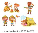 scout honor hand gesture.... | Shutterstock .eps vector #512194873