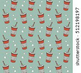 pattern with paper glasses | Shutterstock .eps vector #512198197