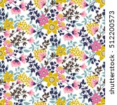 trendy seamless floral ditsy... | Shutterstock .eps vector #512200573