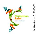 christmas and new year sale... | Shutterstock .eps vector #512203603