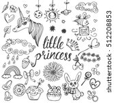 baby theme. hand drawn vector... | Shutterstock .eps vector #512208853