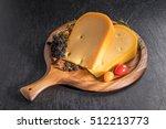 delicious gouda cheese | Shutterstock . vector #512213773