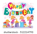 template for happy birthday... | Shutterstock .eps vector #512214793