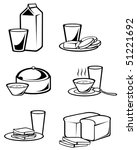 breakfast food symbols for... | Shutterstock .eps vector #51221692