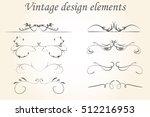 vintage border set. vintage...   Shutterstock .eps vector #512216953