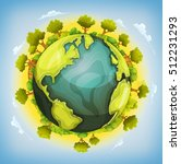 earth planet with forest and... | Shutterstock .eps vector #512231293