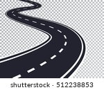 winding road isolated... | Shutterstock .eps vector #512238853
