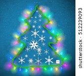 design of christmas tree from... | Shutterstock .eps vector #512239093