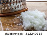 grated onion near metal... | Shutterstock . vector #512240113