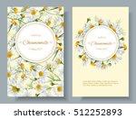vector chamomile flowers... | Shutterstock .eps vector #512252893