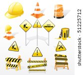 under construction icons set | Shutterstock .eps vector #51225712