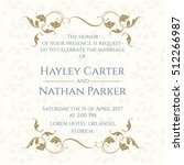 invitation card with floral... | Shutterstock .eps vector #512266987