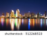 san diego downtown seen from... | Shutterstock . vector #512268523