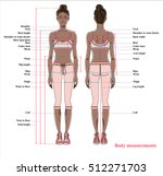 woman body measurement chart.... | Shutterstock .eps vector #512271703