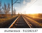 railroad against beautiful sky... | Shutterstock . vector #512282137
