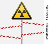warning sign on a pole and... | Shutterstock .eps vector #512288557