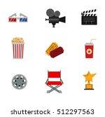 icons for media cinema symbols... | Shutterstock .eps vector #512297563