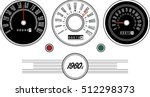 vintage car speedometer 1960s   ... | Shutterstock .eps vector #512298373