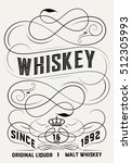 whiskey label design | Shutterstock .eps vector #512305993
