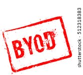 byod red rubber stamp isolated... | Shutterstock .eps vector #512318383