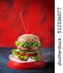 homemade hamburger with fresh...