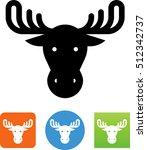 moose head symbol | Shutterstock .eps vector #512342737