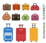 travel bags icon set  flat... | Shutterstock .eps vector #512348827