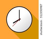 clock icon  vector illustration ... | Shutterstock .eps vector #512350987
