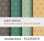 art deco seamless pattern with... | Shutterstock .eps vector #512352073