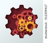 paper carve to gear shape see... | Shutterstock .eps vector #512359417