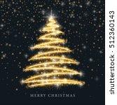 stylized gold merry christmas... | Shutterstock .eps vector #512360143