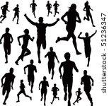 runners vector | Shutterstock .eps vector #51236347