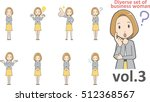 diverse set of business woman   ... | Shutterstock .eps vector #512368567
