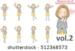diverse set of business woman   ... | Shutterstock .eps vector #512368573