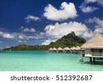 bora bora and south pacific... | Shutterstock . vector #512392687