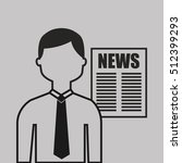 breaking news in newspaper... | Shutterstock .eps vector #512399293