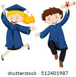 graduation ceremony with two... | Shutterstock .eps vector #512401987