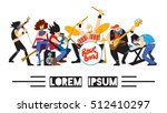 rock band  music group with...   Shutterstock .eps vector #512410297