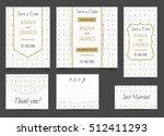 beautiful wedding set of... | Shutterstock .eps vector #512411293