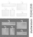 realistic transparent paper... | Shutterstock .eps vector #512411533